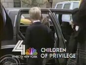 WNBC News 4 New York 5PM & 6PM - Children Of Privilege - Tuesday ident for November 11, 1986