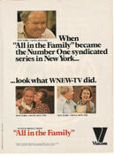 WNEW Channel 5 - All In The Family - 1 Syndicated Series In New York... - Weeknights promo - Spring 1980