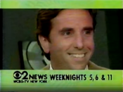 WCBS Channel 2 News 5PM, 6PM And 11PM - Bernie Smilovitz With Sports - Weeknights ident - Late January 1994