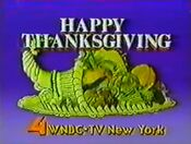 WNBC Channel 4 - Happy Thanksgiving ident 2 - November 22, 1984