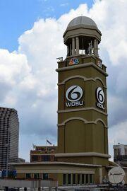 WDSU's iconic studio tower (2014)