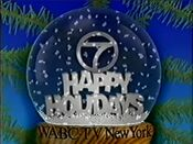 WABC Channel 7 - Happy Holidays ident - Mid-Late December 1991