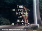 WNEW Channel 5 News, The 10PM News With Bill Jorgensen close - Late Summer 1977
