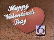 WCIX Channel 6 - Happy Valentine's Day ident - February 14, 1989