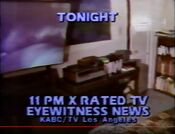 KABC Channel 7 Eyewitness News 11PM - X-Rated TV - Tonight ident for October 28, 1981