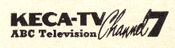 KECA Channel 7 - ABC Television Station logo from the early 1950's