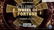 ABC Network - Celebrity Wheel Of Fortune - Series Premiere promo with WLS-TV Chicago id bug for January 7, 2021