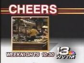 WVTM Channel 13 - Cheers - Weeknights promo - Fall 1988