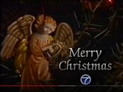 WABC Channel 7 - Merry Christmas ident - Mid-Late December 1988