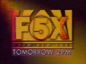 WNYW Fox 5 - 2PM - Tomorrow promo - Fall 1993