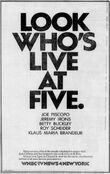 WNBC News 4 Live At 5PM - Look Who's... - This Week promo for the week of November 3, 1986