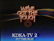 CBS Network - We've Got The Touch ident with KDKA-TV Pittsburgh byline - Fall 1983