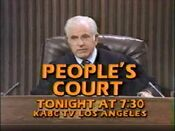 KABC Channel 7 - The People's Court - Tonight ident - Fall 1981