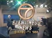 KABC Channel 7 Eyewitness News 11PM close - October 12, 1988