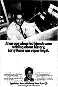 WABC Channel 7 Eyewitness News 11PM - Larry Kane - Weeknights promo - 1977