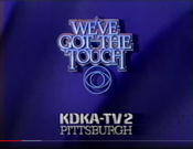 CBS Network - We've Got The Touch ident with KDKA-TV Pittsburgh byline - Early 1985