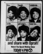 WABC Channel 7 - The Oprah Winfrey Show - Today promo - Mid-Late December 1986