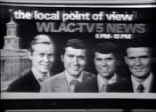 WLAC Channel 5 News 6PM & 10PM - The Local Point Of News - Weeknights ident - 1971