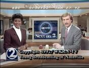 WKRN Channel 2 News 5PM close - January 27, 1992