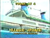 KABC Channel 7 Eyewitness News 4PM - Hijack Update - Today ident for October 8, 1985