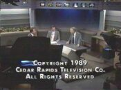 KCRG TV9 Eyewitness News Nightcast close - July 20, 1989