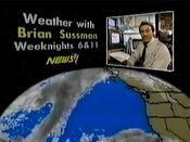 KNTV News 11 6PM & 11PM - Weather With Brian Sussman - Weeknights promo - 1984