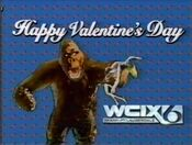 WCIX Channel 6 - Happy Valentine's Day ident - February 14, 1986