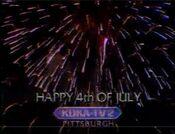 KDKA TV2 - Happy 4th Of July ident - July 4, 1987