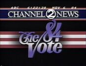 WKRN Channel 2 News, The '84 Vote Election Night Update bumper - November 6, 1984