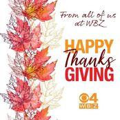 WBZ Channel 4 - Happy Thanksgiving ident - November 28, 2019