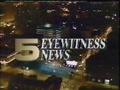 WTVF Channel 5 Eyewitness News open - January 1989 - Late Variation