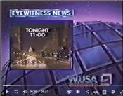 WUSA Channel 9 Eyewitness News Nightcast - Tonight promo - Early-Mid July 1986