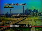 KDFW Channel 4 News, The 10PM Report - Ahead bumper - September 26, 1986
