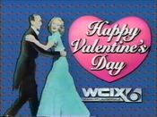WCIX Channel 6 - Happy Valentine's Day ident 2 - February 14, 1986
