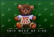 KCBS Channel 2 News Live At 5PM - The Channel 2 News Toy Test - This Week ident for the week of November 24, 1986