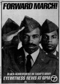 WABC Channel 7 Eyewitness News 6PM - Black Achievement In Today's Army - Tonight promo for May 26, 1986