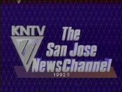 KNTV 11 - The San Jose Newschannel ident with Copyright Tag - 1992