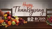 WCBS CBS2 & CBSN New York - Happy Thanksgiving ident - November 26, 2020