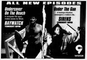 WWOR Channel 9 - 'Baywatch' & 'Sirens' - All New Episodes - Tonight promo for November 7, 1994