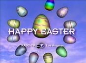 KABC ABC7 - Happy Easter ident - Spring 2002