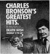 WNYW Fox Channel 5 - Death Wish - Monday promo for November 3, 1986