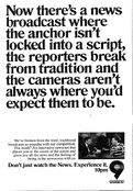 WWOR Channel 9 News 10PM - Don't Just Watch The News, Experience It - Weeknights promo - Fall 1989