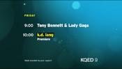 KQED 9 - K.D. Lang - Premiere promo for December 13, 2018