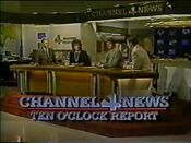 KDFW Channel 4 News, The 10PM Report open - September 26, 1986