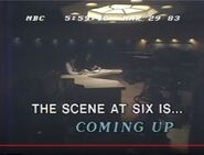 WSMV Channel 4 News, The Scene At 6PM - Coming Up Next promo for March 29, 1983
