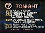 KABC Channel 7 - Tonight Line-Up promo for October 16, 1988