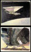 Ron Cobb Nostromo(ship-ramp) Book of Alien