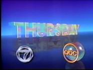 ABC Network - Thursday promo with WABC-TV New York id bug - Spring 1987