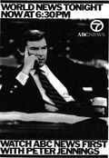WABC Channel 7 - ABC World News Tonight With Peter Jennings - Now @ 630PM - Weeknights promo - Mid-Late December 1986