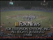 KTTV Fox News 10PM close - October 12, 1988